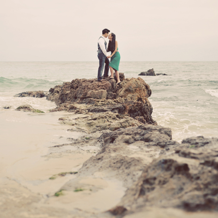 Orange County Beach and Urban Engagement Photography: April+Paul (Part 2)
