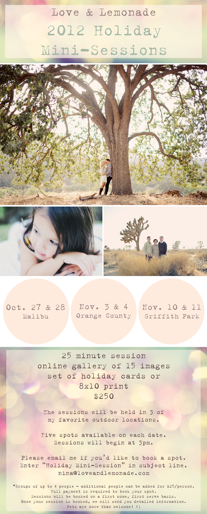 2012 Holiday Mini-Sessions!