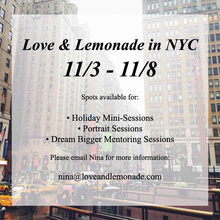 NYC 11/3 – 11/8