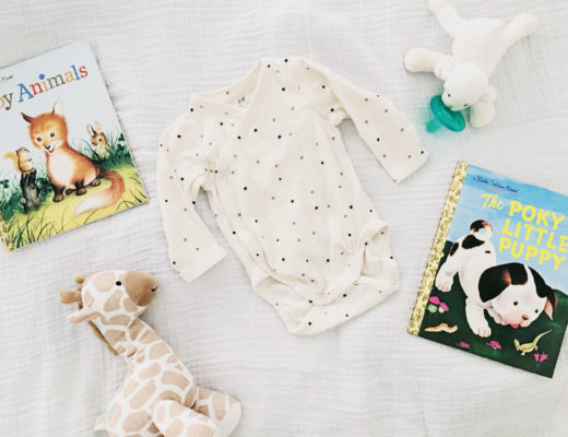 hm onesie, organic baby clothes, little golden books, the poky puppy, giraffe doll for baby, wubbanub, wubbanub lamb, maternity leave, nina lance, baby lance, aden and anais swaddle, organic swaddle